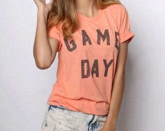 Game Day Shirt, Game Day Tshirt, Football Shirt, Game Day Clothing, Retro Tshirt, Vintage Tshirt, Tailgate Shirts, Women's Graphic Tees