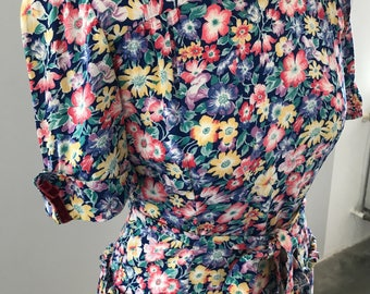 40s 50s dress, vintage dress, Grace Kelly, flower dress