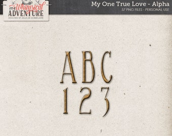 Digital alpha, alphabet, digital scrapbooking elements, embellishments, valentine's day, romantic, love, wedding, metal, metal alpha