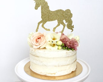 Unicorn Cake Topper Birthday, Birthday Girl, Unicorn Party, Rainbow Party, Horse, Cowgirl Party.