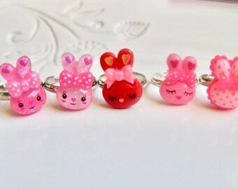 Bunny Ring, Kawaii Ring, Kawaii Jewelry, Bunny Jewelry, Rabbit Ring, Cute Ring