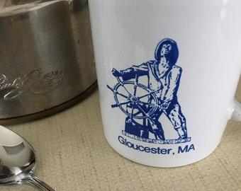 Gloucester, Massachusetts travel souvenir vintage ceramic mug