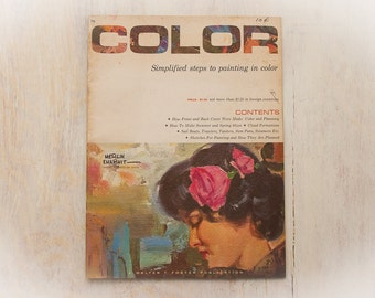"""COLOR """"Simplified Steps to Painting in Color"""" / Vintage Book (c.1960's) Walter Foster Publication / RETRO How To Draw Book - Gift"""