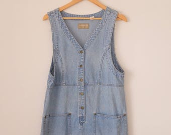 Vintage Button Up Denim Dress