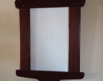 Arts and Crafts Mirror, Greene and Greene inspired Mirror, Home Decor, Wood Frame, Mirror Frame, Wall Decor, Interior Design