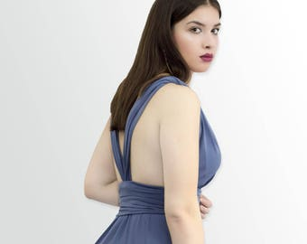 Goddess Petrol Blue Dress