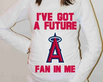 Los Angeles Angels Shirt Los Angeles Angels Baseball Long Sleeve Maternity Shirt Pregnancy Baby Shower