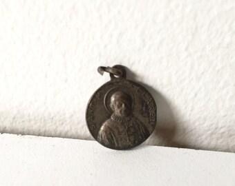 Antique Bronze Medal / Pendant Relic from Saint-Antoine Marie Claret 1870