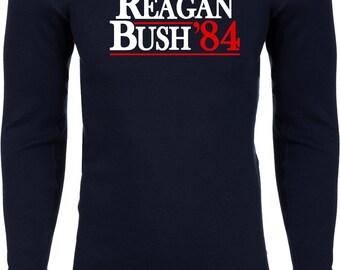 Men's Reagan Bush 1984 Thermal Shirt REAGAN84-N8201