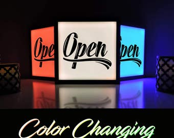 Lighted Open Sign, Open Light, Come In We're Open, We Are Open Sign, Open Sign, Remote Control Sign, Business Sign, Open Closed Sign