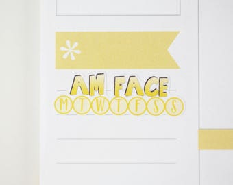 36 AM Face Daily Habit Stickers  | Planner Stickers designed for use with the Erin Condren Life Planner | 0679