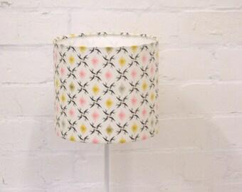Geometric lampshade, geometric decor, white lamp shade, bedside lamp, lampshades, table lamp, handmade lamp, lampshade, drum lampshade, lamp