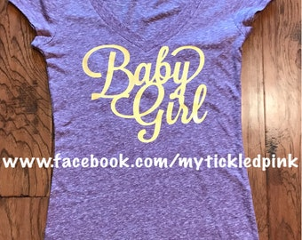Baby Girl Ladies' V-Neck T-Shirt
