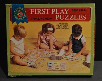 Vintage 1969 Child Guidance First Play Puzzles Things We Now