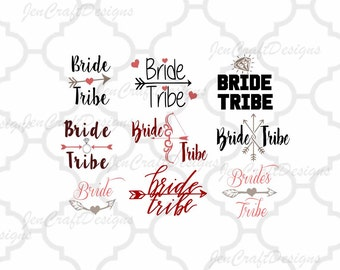 Bride Tribe SVG - Bride SVG, Ai, jpg, Dxf, eps, png cuttable Files for   Cutting Machines Cameo, Cricut, SCAL, Bride svg, Bridesmaid svg