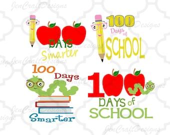 100 days of School svg 100th day of school School Days SVG EPS DXF Png Silhouette Studio & Cricut, Vector Art Vinyl Digital Cutting Cut File