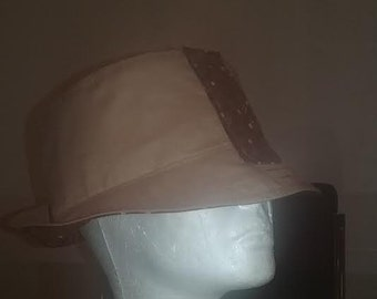 Brown and Bubbly Reversible Fabric Bucket Hat!!!! Custom Made