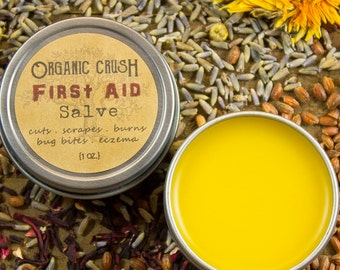 FIRST AID SALVE | Natural First Aid Cream |  Natural First Aid Salve | Relief for Cuts/Burns/Bug Bites/Eczema