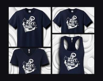 Large Anchor Navy Family Shirts