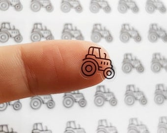 56 Clear Tractor Stickers, Tractor Planner Stickers, Farming Stickers, Farm Stickers, Day ...