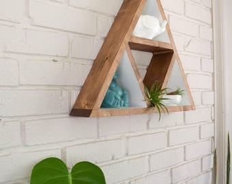 Triangle Shelf - Wood Floating Shelf - Triangle Shelves - Geometric Shelves - Geometric Shelf - Floating Shelves - Wall Shelf - Modern Shelf