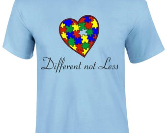 Different Not Less Colorful Heart Graphic Men T-shirt - DiffNotLess-Mss