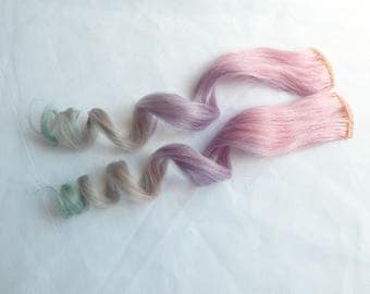 PASTEL OPAL OMBRE 100% Human Hair Extensions, Ombre Pastel Hair, Pastel Extensions, Festival Hair, Peakaboo Hair Extensions, Clip In