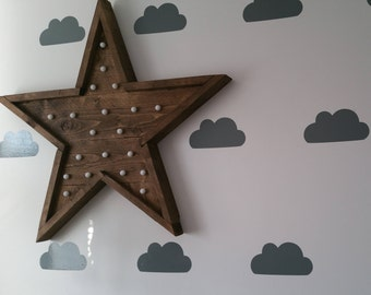 Light up star/Vintage star/Retro star/Carnival star/Wooden star/Rustic star/Star with lights
