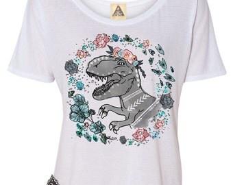 T Rex Shirt, Girl T Rex Shirt, Girl Dinosaur Shirt, Funny Dinosaur Shirt, Boho Dinosaur Shirt, Off the Shoulder Shirt, Bridesmaid Shirt