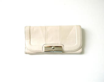 White Leather Coach Wallet
