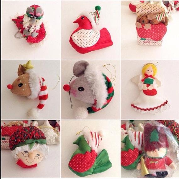 Vintage 1980 39 S Russ Christmas Ornaments Plush Ornaments