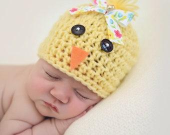 Newborn Chick Hat, Newborn Photo Prop, Easter Photo Prop, Newborn Girl - Boy  Hat, Yellow Hat, Newborn Bird Hat, Easter Hat, Newborn Easter
