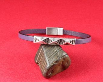 3/7 MADE in EUROPE 2 zamak tube sliders, 5mm cord slider tube, flat 5mm cord slider bead, silver slider tube (9419-0077) Qty2