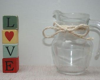 Handmade wooden letter blocks - LOVE - a great gift or small, shelf art