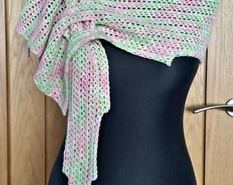 Merino wool scarf, hand dyed yarn, woolen scarf, neck warmer, sparkle merino, crochet scarf, mothers day gift, spring fashion, luxury scarf