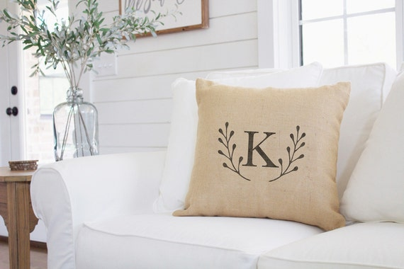 Monogrammed Home Decor 28 Images Monogram Burlap Pillow Cover Rustic Home Decor By 36 Inch
