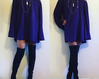 Wide Sleeve Off the Shoulder Dress / Off the shoulder / T-Shirt Dress / Wide Sleeve / Extra Long Sleeve  / Off the Shoulder Dress / Dress