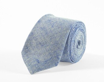 Chambray blue tie, blue mens tie, Groomsmen tie, chambray blue necktie, blue tie for weddings, Blue skinny tie, bow ties for men