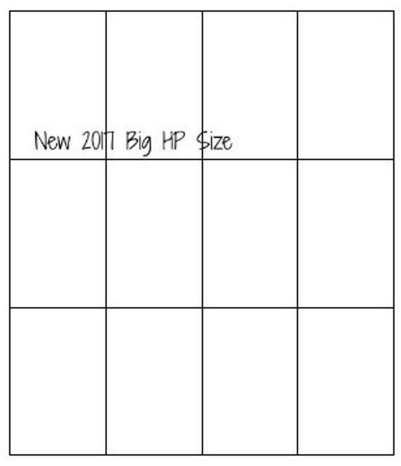 Big Happy Planner 2017 Sticker Printable Template New 8.5x11