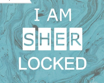I AM SHERLOCKED decal, Sherlock car decal, Sherlocked vinyl decal