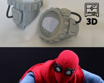 Spiderman Homecoming homemade goggles 3D model for 3D printing