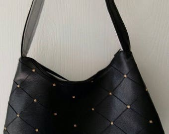 Ladies NEW Purse Handbag Pocketbook Shoulder bag LEATHER with Stitching T112