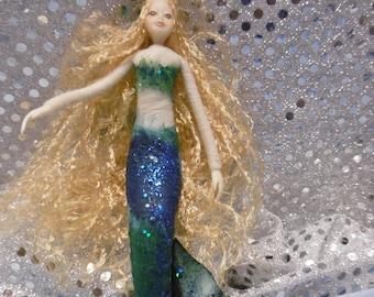Mermaid,miniture mermaid,mermaid doll,handmade doll,fairy doll,supplies,accessories,handmade mermaid,beach doll,beach accessories