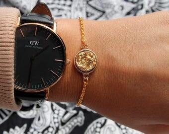 Gold Druzy Bracelet