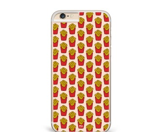 FRENCH FRIES Clear Transparent Phone Case Pizza Food Funny Tumblr Insta iPhone 7 6 Plus SE 5 5S 5C Samsung Galaxy S7 S6 Motorola Huawei P8
