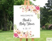 Baby Shower Decorations Girl, Baby Shower Welcome Sign, Baby Shower Banner Girl, Baby Shower Printables, Baby Shower Decor, Baby Shower Art
