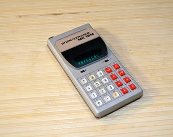 """Rare Soviet calculator Electronica MK-18M microcalculator """"Электроника МК-18М"""" 1987  from USSR Electronika, Decor Vintage gadget (k007)"""
