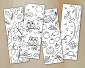 Zentangle Digital Bookmarks / Lesezeichen AUTUMN /  printable PDF & JPG / Coloring and relaxing /