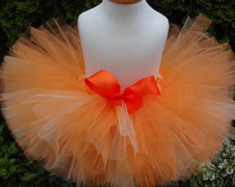 Orange Tutu, Birthday Tutu, Baby Tutu, Infant, Sewn Tutu, Newborn Tutu, Toddler Tutu, Halloween Tutu, Tutu, Fall Tutu, Cakesmash Tutu