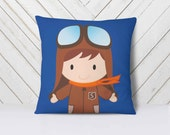 Baby Pillow Personalized, aviation decor, pilot gift, aviation nursery, aviation gifts, kids pillow cases, baby boy nursery decor // name it